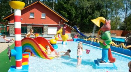 pool at Camping Fuussekaul Heiderscheid Luxembourg