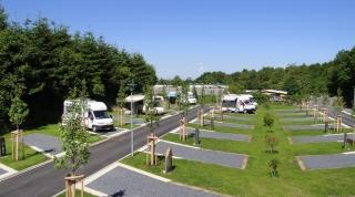 motorhome pitches at Camping Fuussekaul Heiderscheid Luxembourg