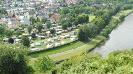 Camping Schützwiese Wasserbillig Luxembourg where the rivers Sûre and Moselle meet