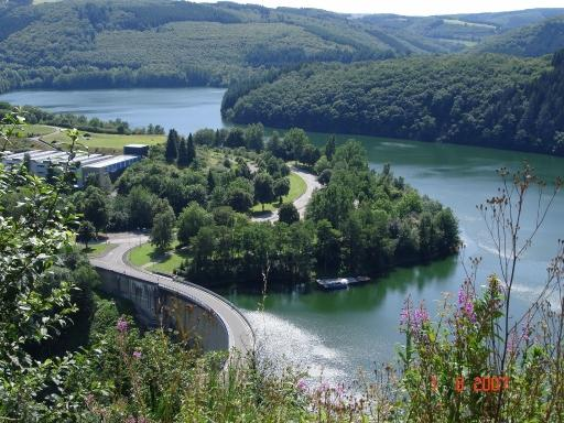 lake of the Upper Sûre in Luxembourg