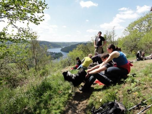 hiking and rambling in the natural park of the Upper Sûre in the Luxembourg Ardennes