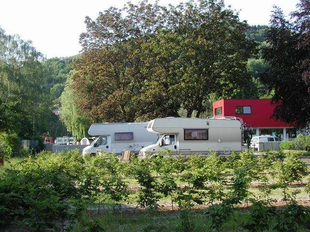 motorhome overnight stop at Camping de la Sûre Diekirch Luxembourg