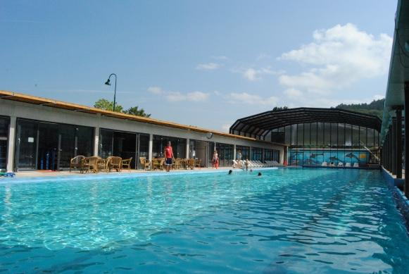 pool with olympic dimensions on Europacamping Nommerlayen Nommern Luxembourg