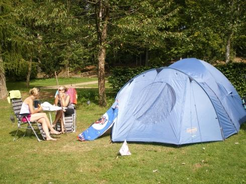 camp with your tent on Camping Plage Beaufort Luxembourg