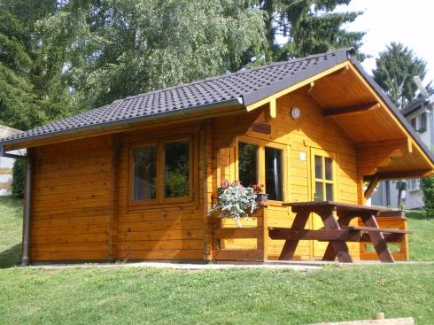 hiking hut for rent on Camping Plage Beaufort Luxembourg