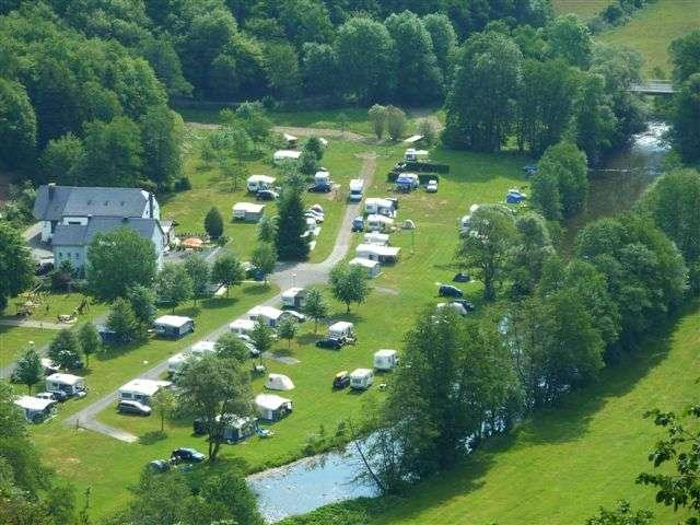 Camping Tintesmühle Heinerscheid Luxembourg in the Our Valley