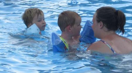 swim on Camping Neumuhle Ermsdorf Luxembourg