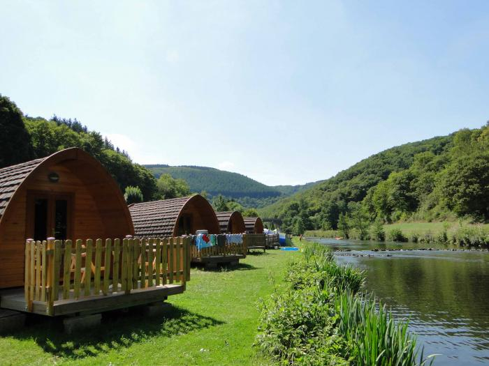 Pods for hire on Camping Bissen Heiderscheidergrund Luxembourg
