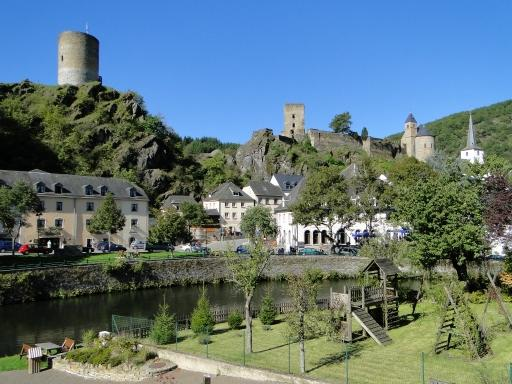 the picturesque town of Esch-Sur-Sûre in Luxembourg