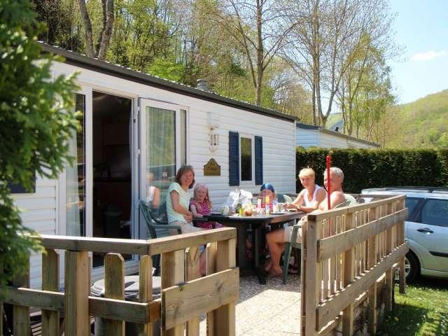 static caravans for hire at Camping Bissen Heiderscheidergrund Luxembourg