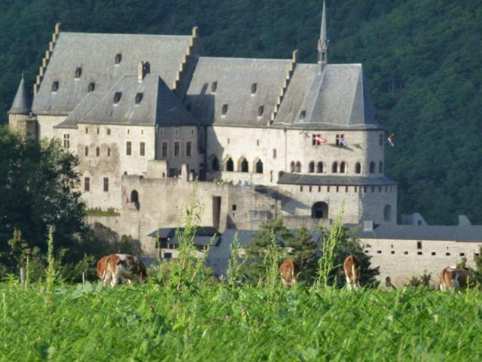 Castle Vianden next to Camping de l'Our Vianden Luxembourg
