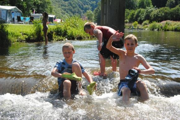 Fluss Sauer bei Camping du Moulin Bourscheid-Moulin Luxemburg