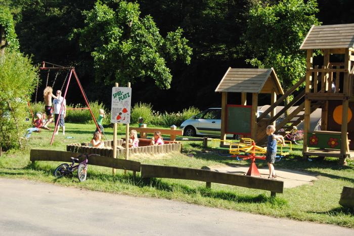 play area at Camping du Nord Goebelsmuhle Luxembourg