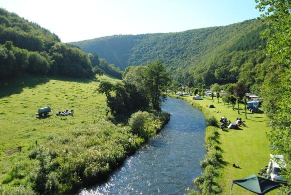 Camping du Nord Goebelsmuhle Luxemburg in ländlicher Umgebung