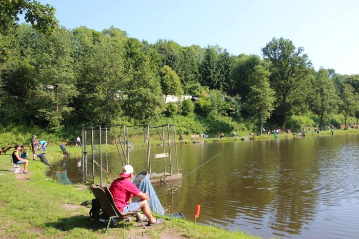 own fishing rights at Camping Reilerweier Clervaux Reuler Luxembourg