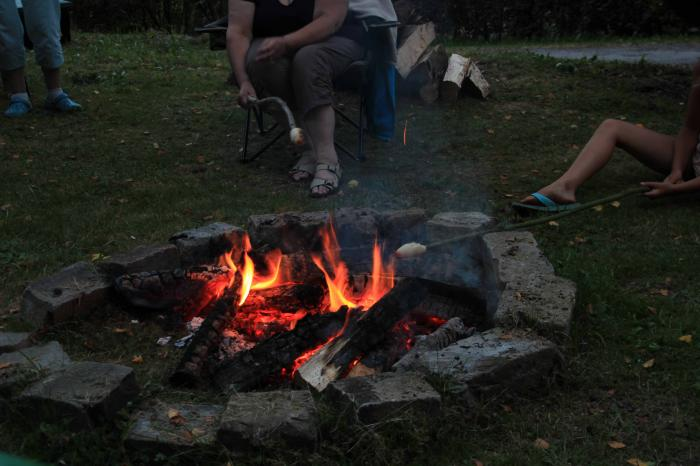 camp fire at Camping Reilerweier Clervaux Reuler Luxembourg