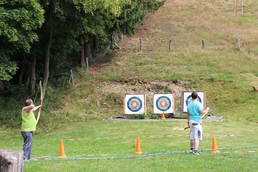 bow archery at Camping Reilerweier Clervaux Reuler Luxembourg