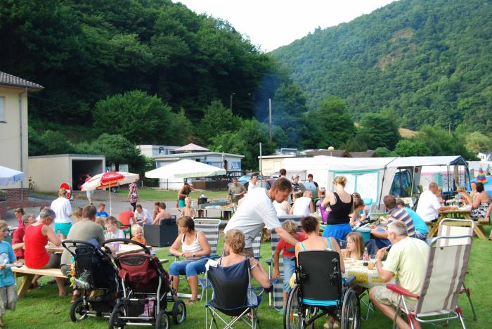 barbecue at Camping Um Gritt Bourscheid Moulin Luxembourg