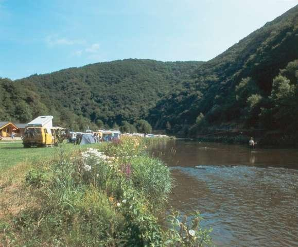 enjoy fishing right from your camping pitch on Camping Um Gritt Bourscheid Moulin Luxembourg