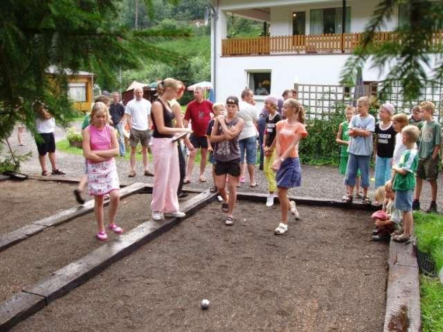 Boule Spiel auf Camping Woltzdal Maulusmuhle Luxemburg