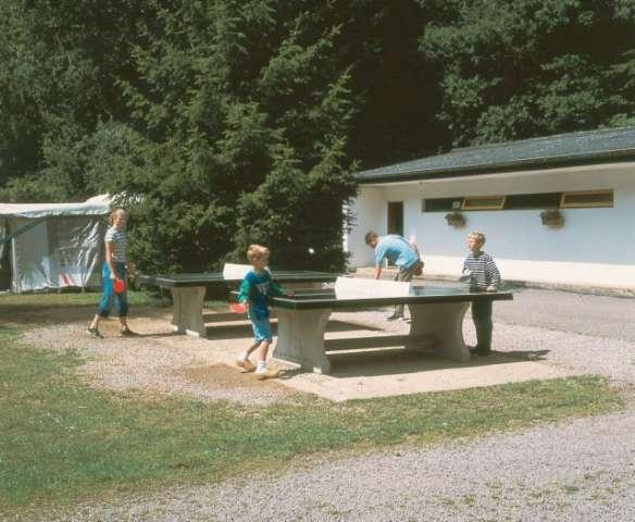 table tennis at Camping Woltzdal Maulusmuhle Luxembourg
