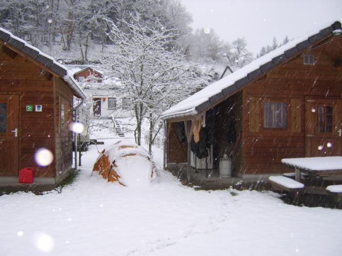 Hiver au Camping Val d'Or Enscherange Luxembourg
