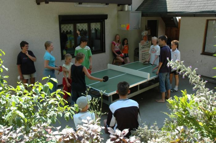 table tennis at Camping Val d'Or Enscherange Luxembourg