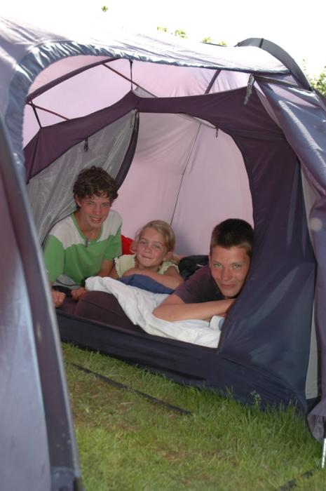 camp in a tent at Camping Val d'Or Enscherange Luxembourg