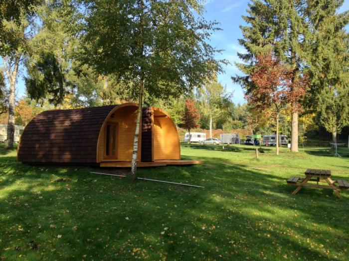 Quartier Huts for rent per night on Camping Auf Kengert Larochette Luxembourg